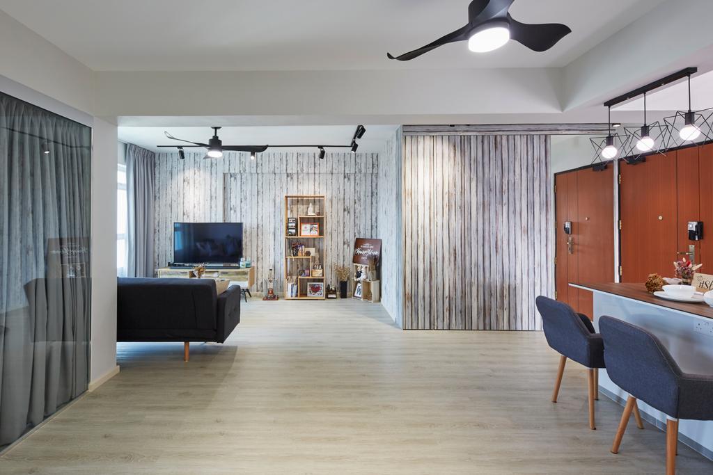 Contemporary, HDB, Living Room, Jalan Limau, Interior Designer, i-Chapter
