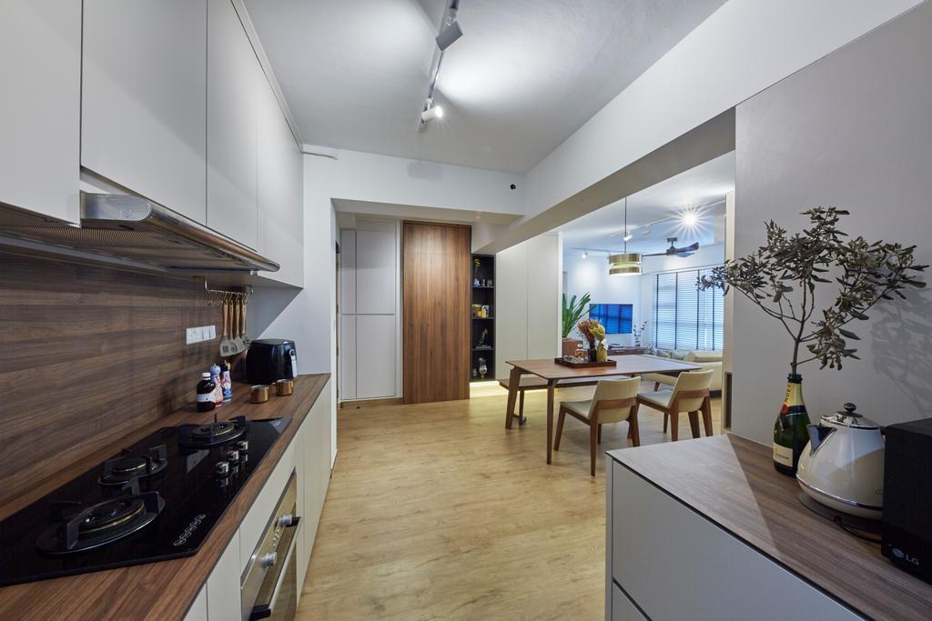 Scandinavian, HDB, Kitchen, Ghim Moh Link, Interior Designer, i-Chapter