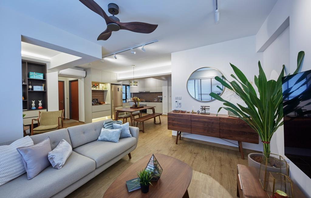 Scandinavian, HDB, Living Room, Ghim Moh Link, Interior Designer, i-Chapter