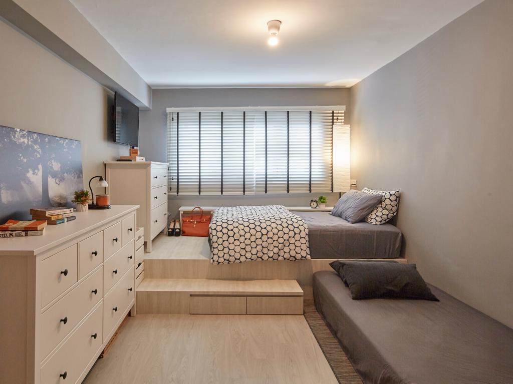 Contemporary, HDB, Bedroom, Whampoa Drive, Interior Designer, i-Chapter