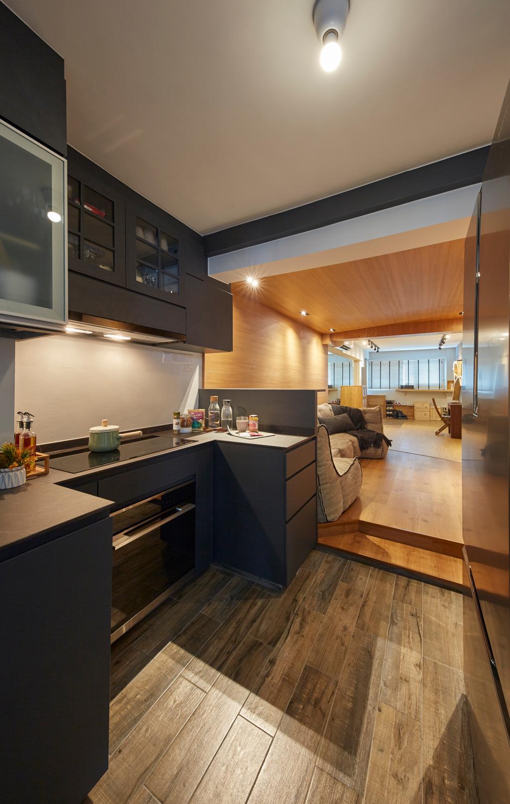 Contemporary, HDB, Kitchen, Whampoa Drive, Interior Designer, i-Chapter