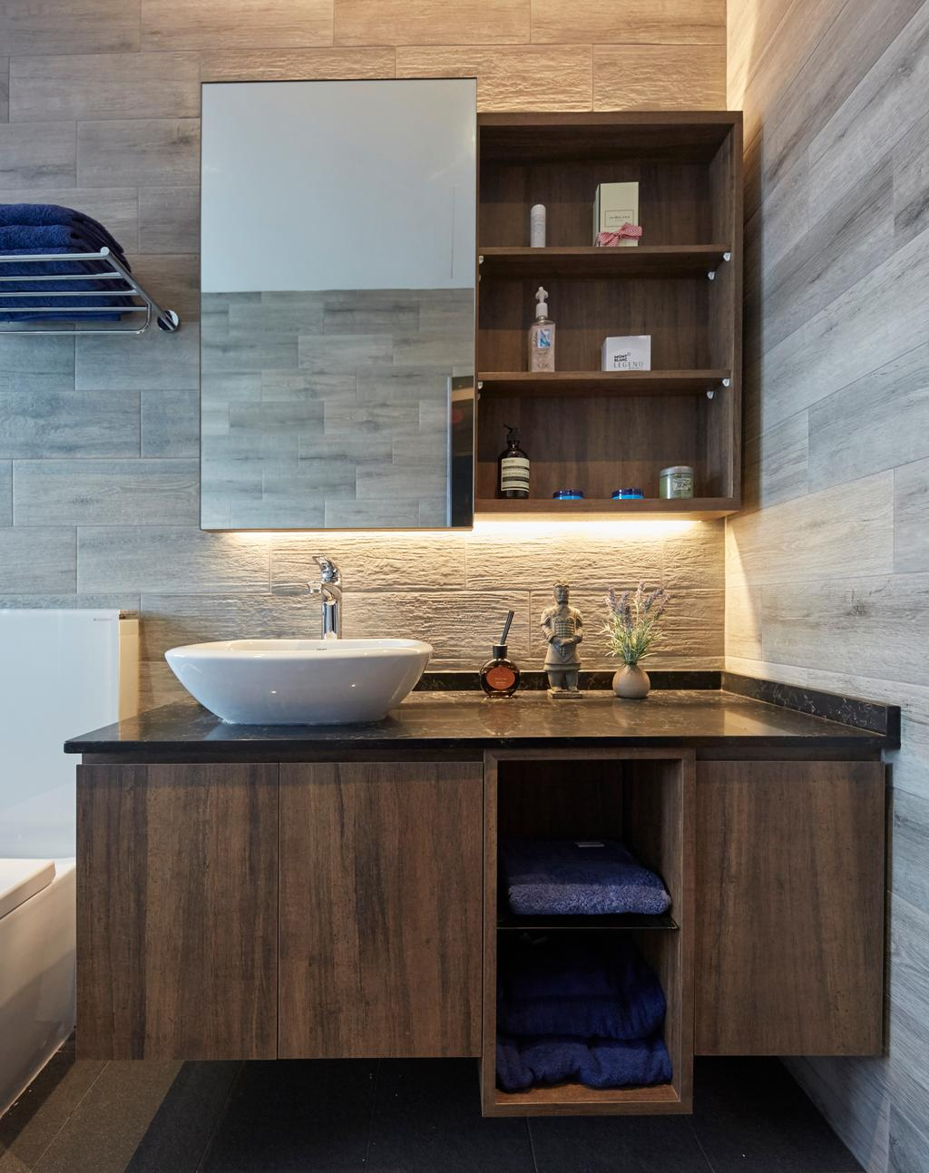 Contemporary, Landed, Bathroom, Jalan Limbok, Interior Designer, i-Chapter, Modern