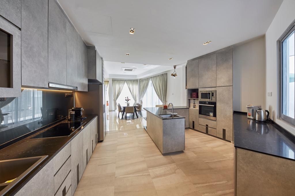 Contemporary, Landed, Kitchen, Jalan Limbok, Interior Designer, i-Chapter, Modern