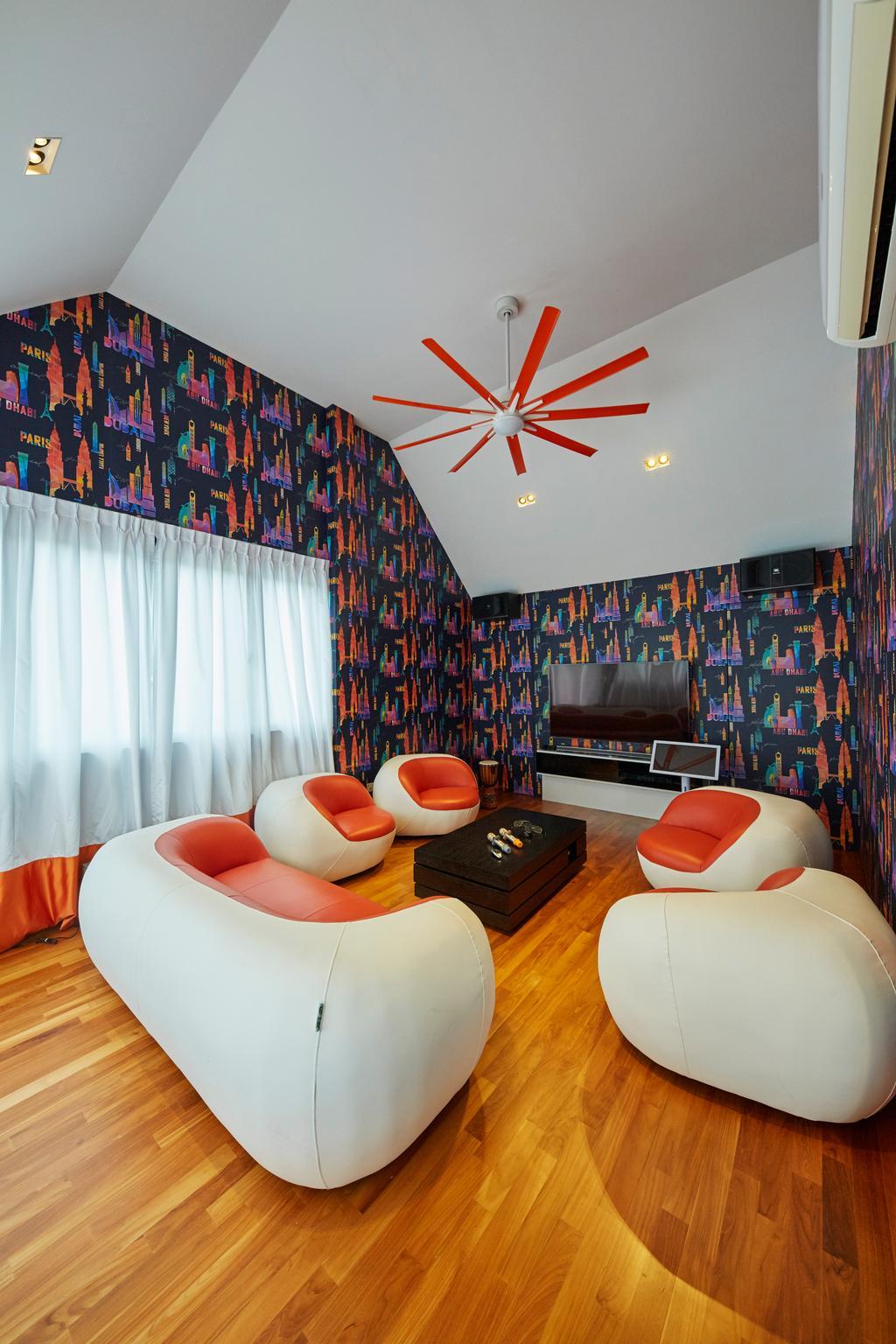 Contemporary, Landed, Living Room, Jalan Limbok, Interior Designer, i-Chapter, Modern