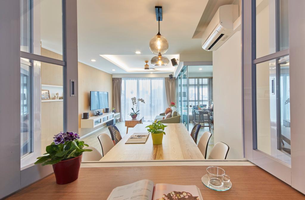 Scandinavian, HDB, Dining Room, Upper Boon Keng Road, Interior Designer, i-Chapter, Contemporary