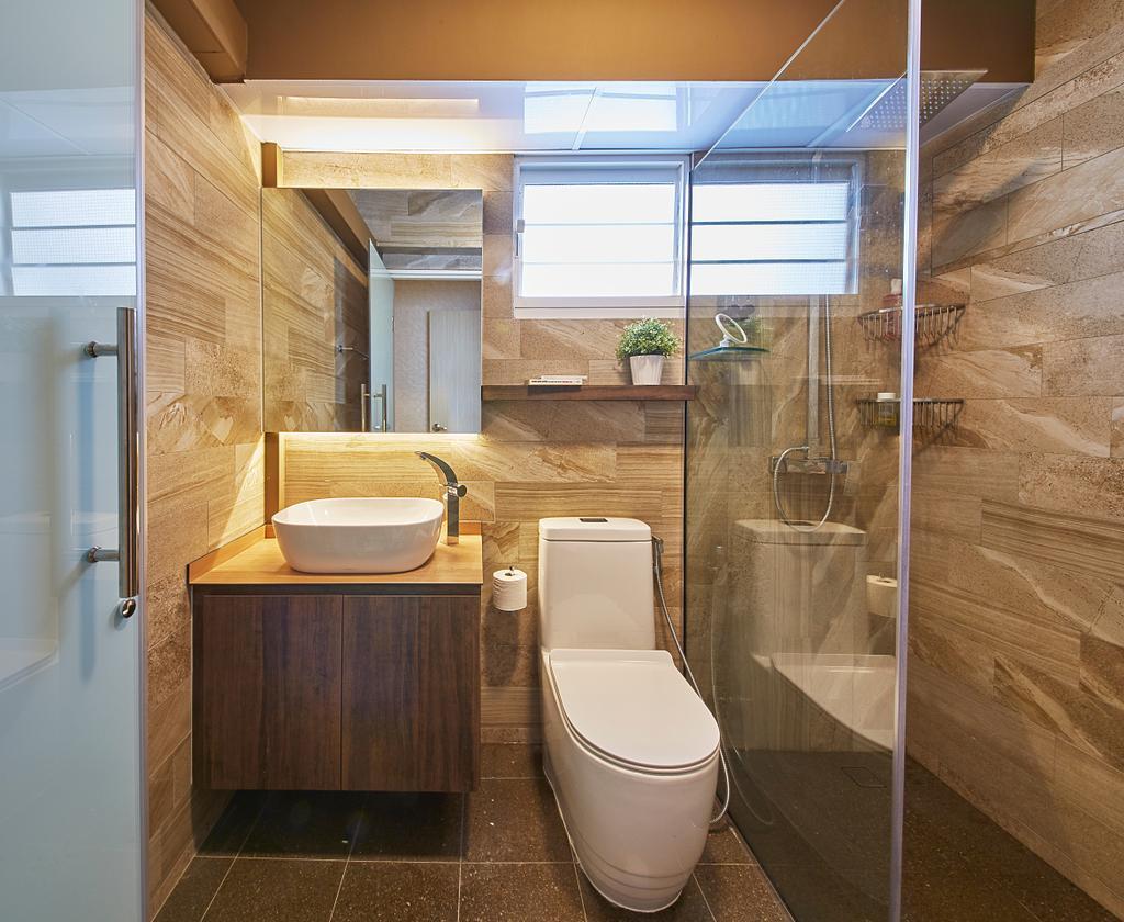 Scandinavian, HDB, Bathroom, Upper Boon Keng Road, Interior Designer, i-Chapter, Contemporary