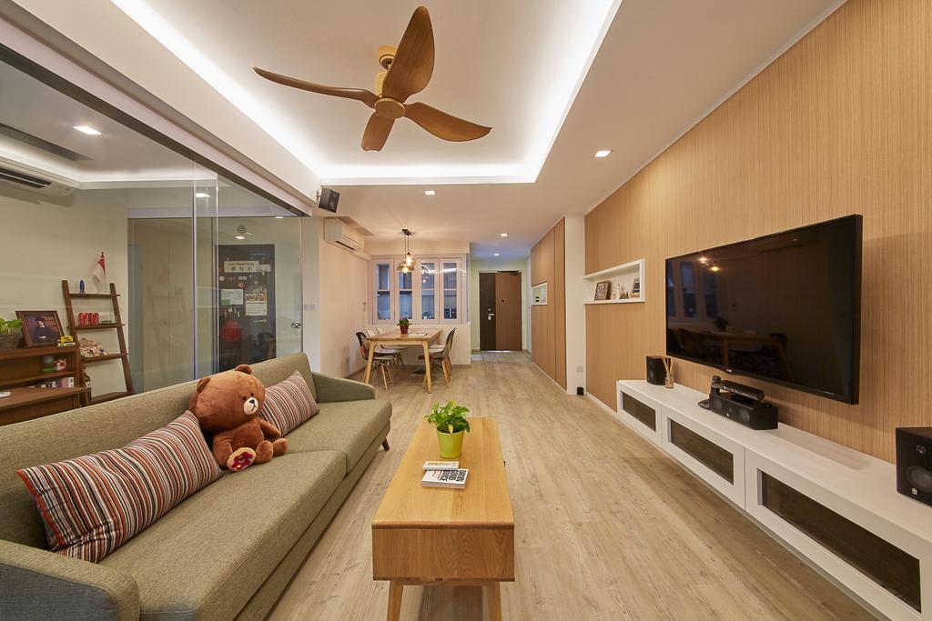 Scandinavian, HDB, Living Room, Upper Boon Keng Road, Interior Designer, i-Chapter, Contemporary