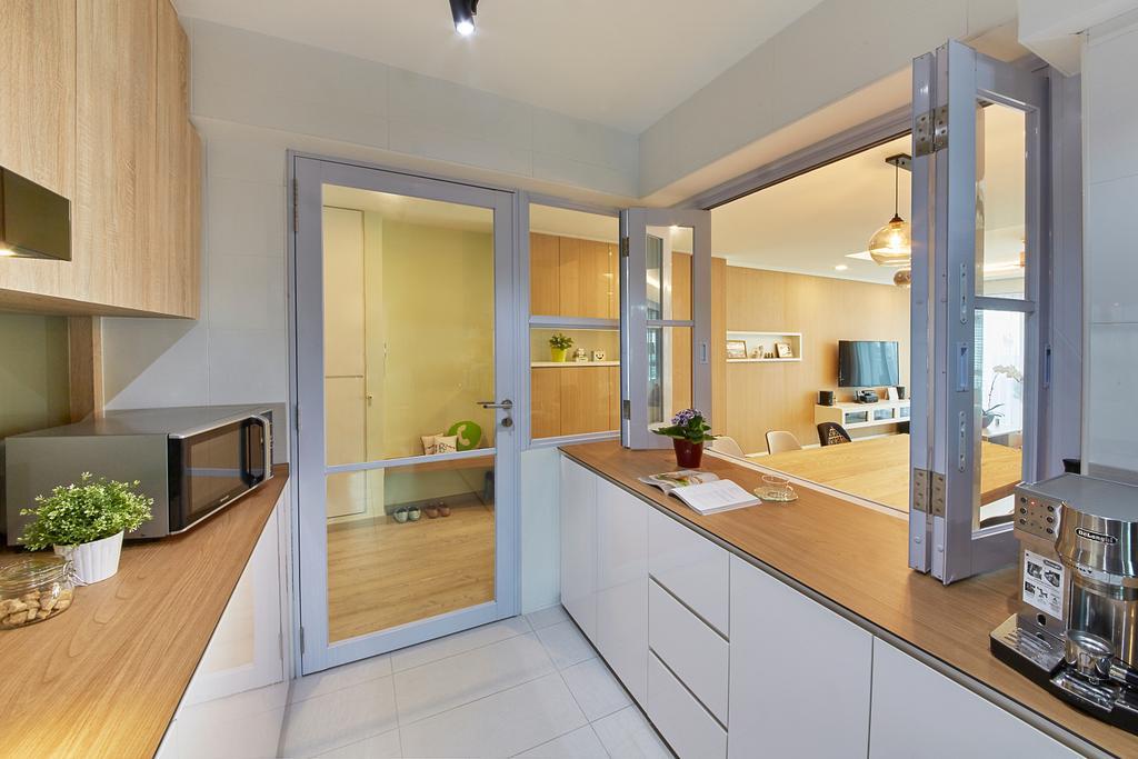 Scandinavian, HDB, Kitchen, Upper Boon Keng Road, Interior Designer, i-Chapter, Contemporary