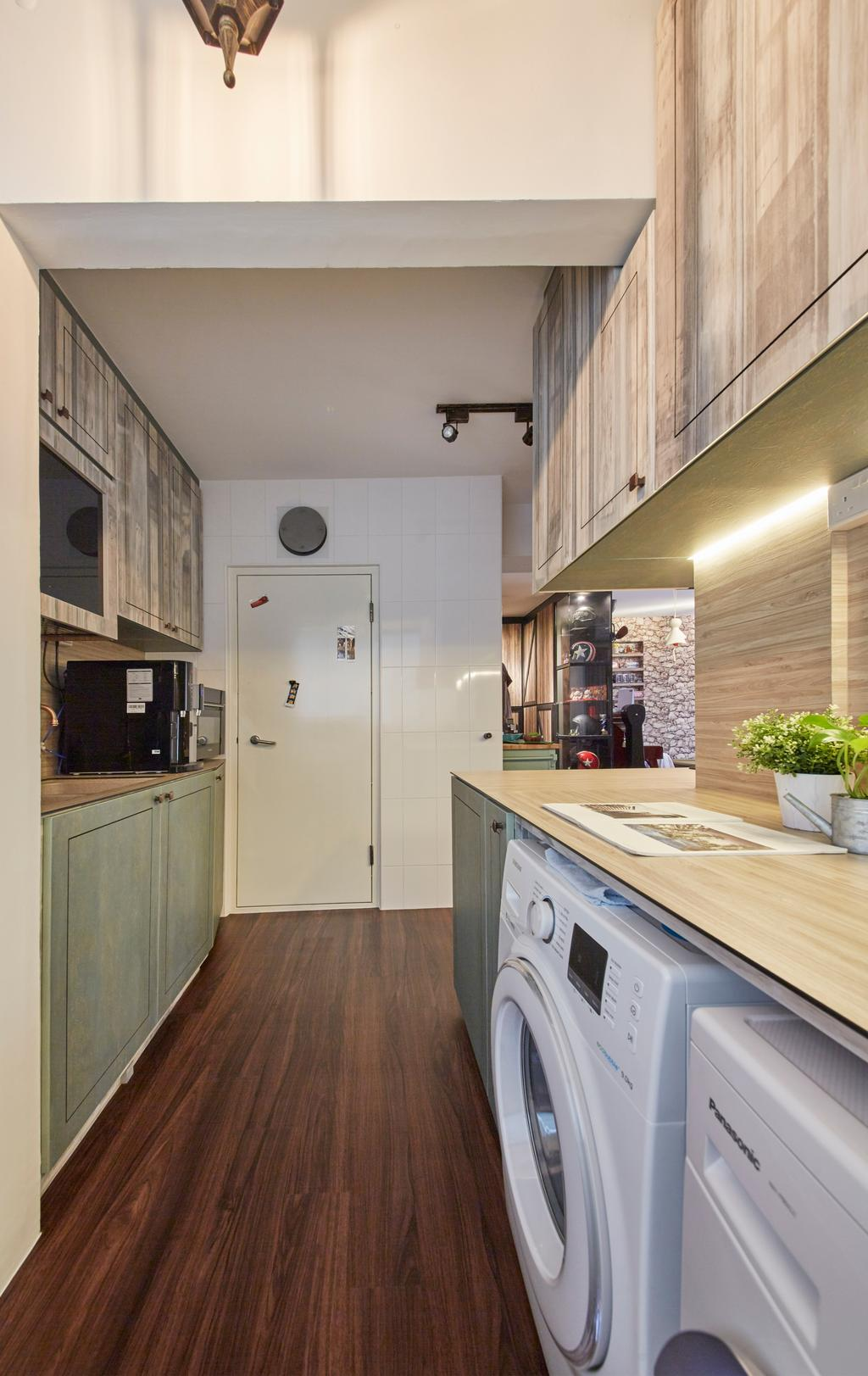Eclectic, HDB, Kitchen, Clementi Avenue 4, Interior Designer, i-Chapter