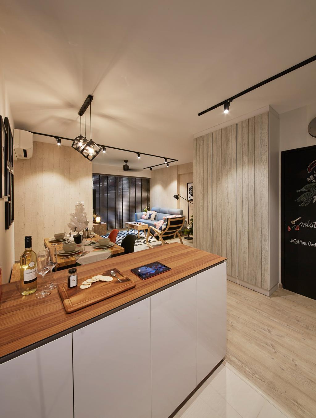 Scandinavian, HDB, Kitchen, Bukit Batok West Avenue 6, Interior Designer, i-Chapter