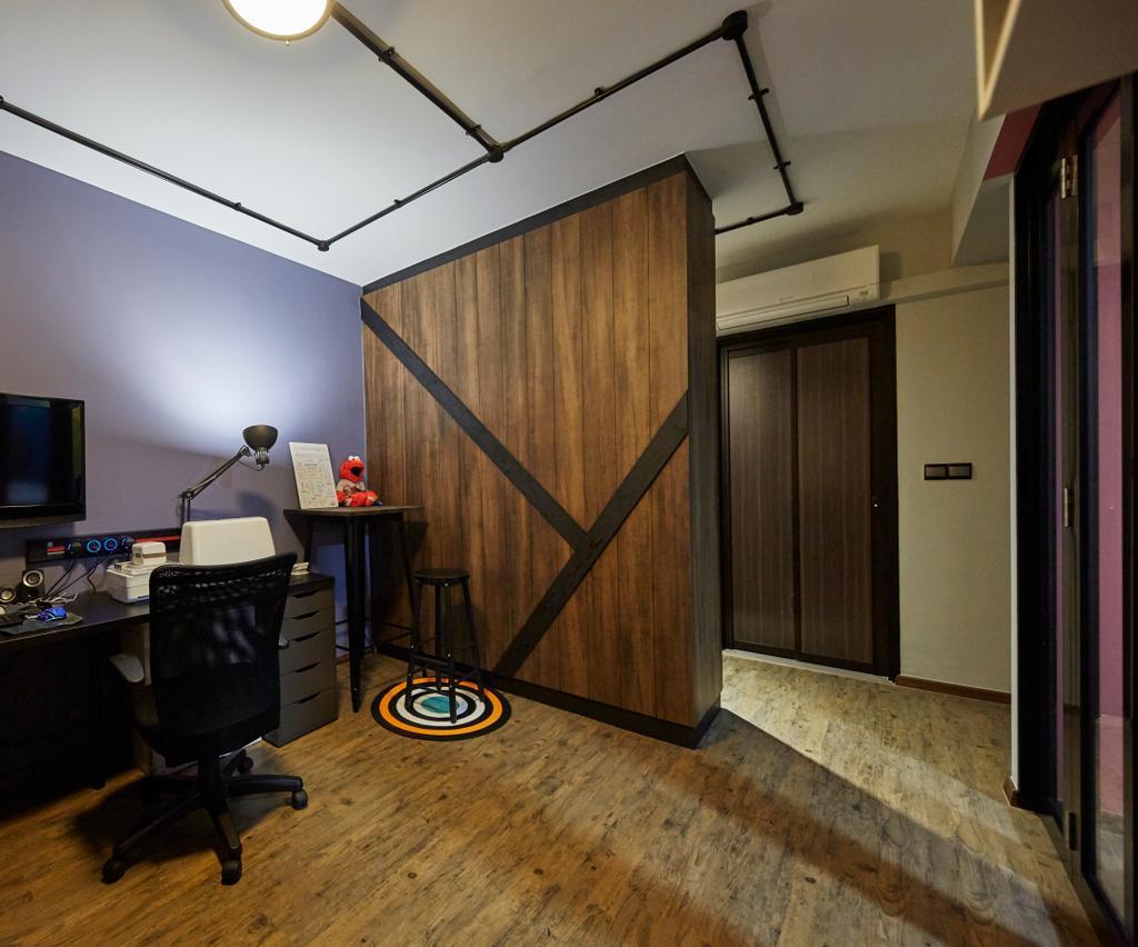 Eclectic, HDB, Bedroom, Anchorvale Crescent, Interior Designer, i-Chapter