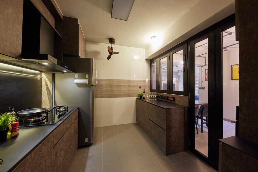 Eclectic, HDB, Kitchen, Anchorvale Crescent, Interior Designer, i-Chapter