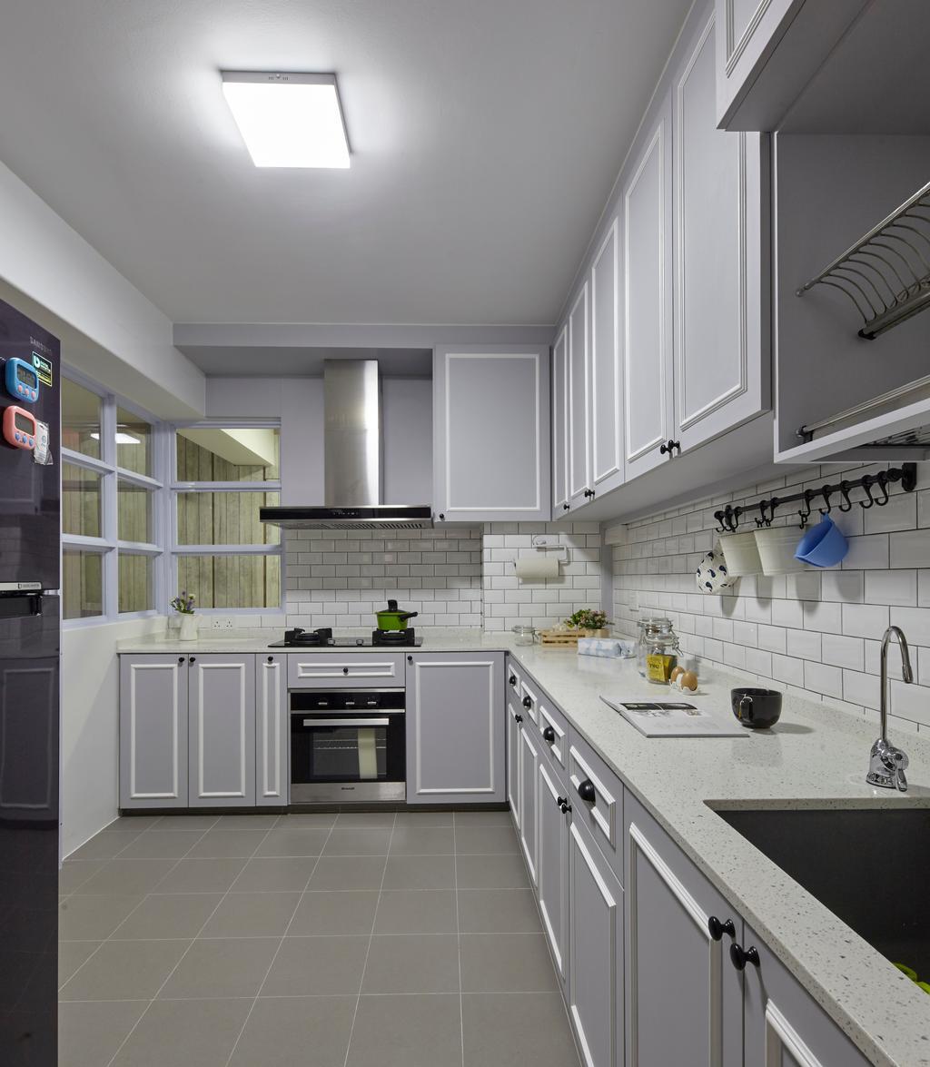 HDB, Kitchen, Compassvale Crescent, Interior Designer, i-Chapter