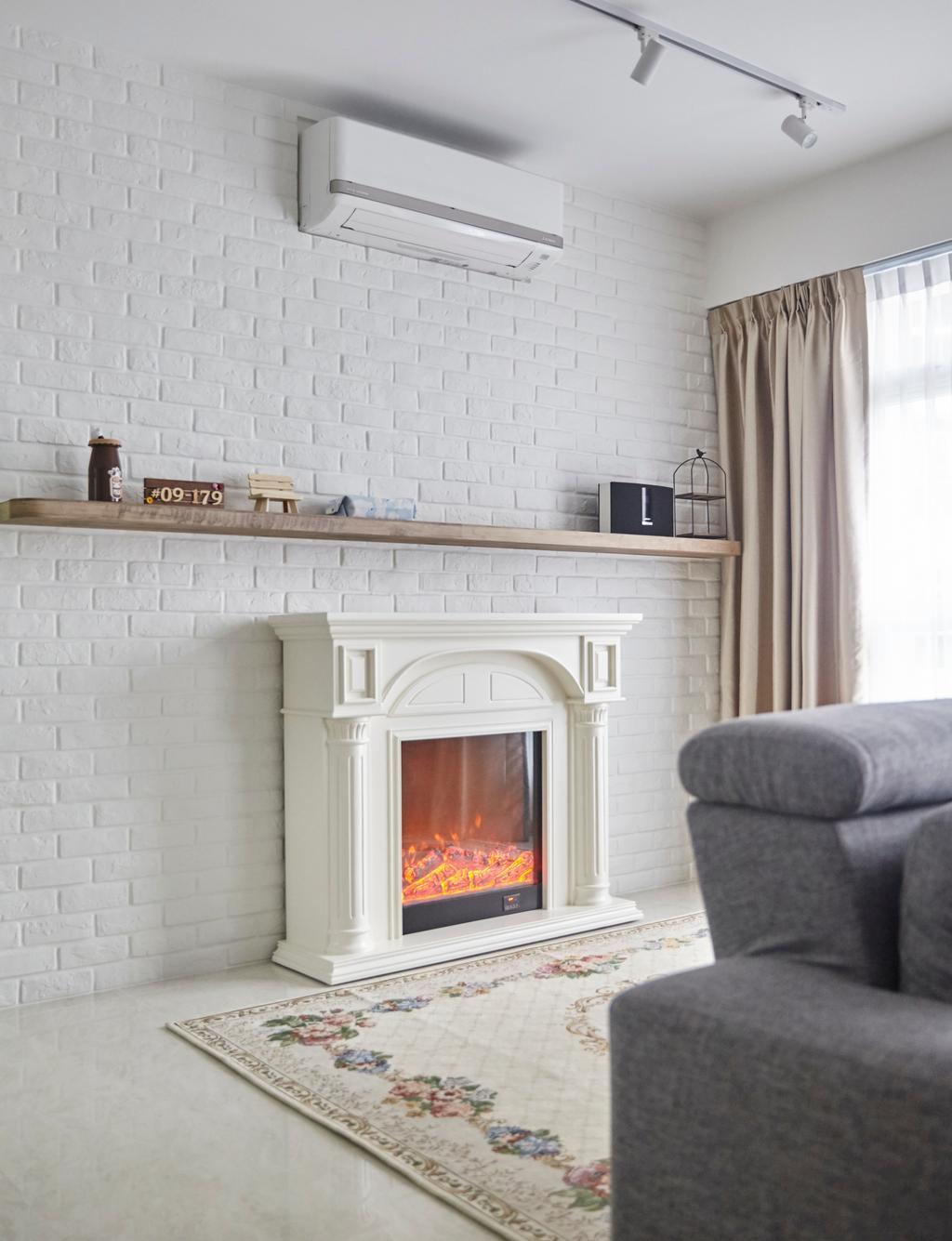 HDB, Living Room, Compassvale Crescent, Interior Designer, i-Chapter