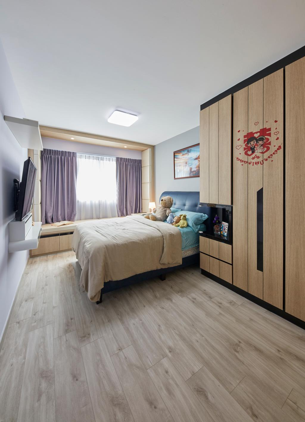 HDB, Bedroom, Boon Lay Ave, Interior Designer, i-Chapter