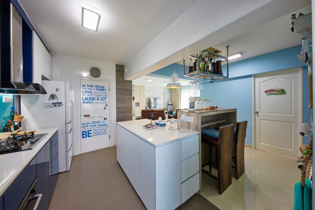 HDB, Kitchen, Boon Lay Ave, Interior Designer, i-Chapter