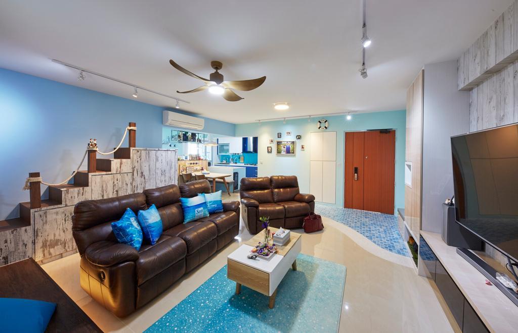 HDB, Living Room, Boon Lay Ave, Interior Designer, i-Chapter