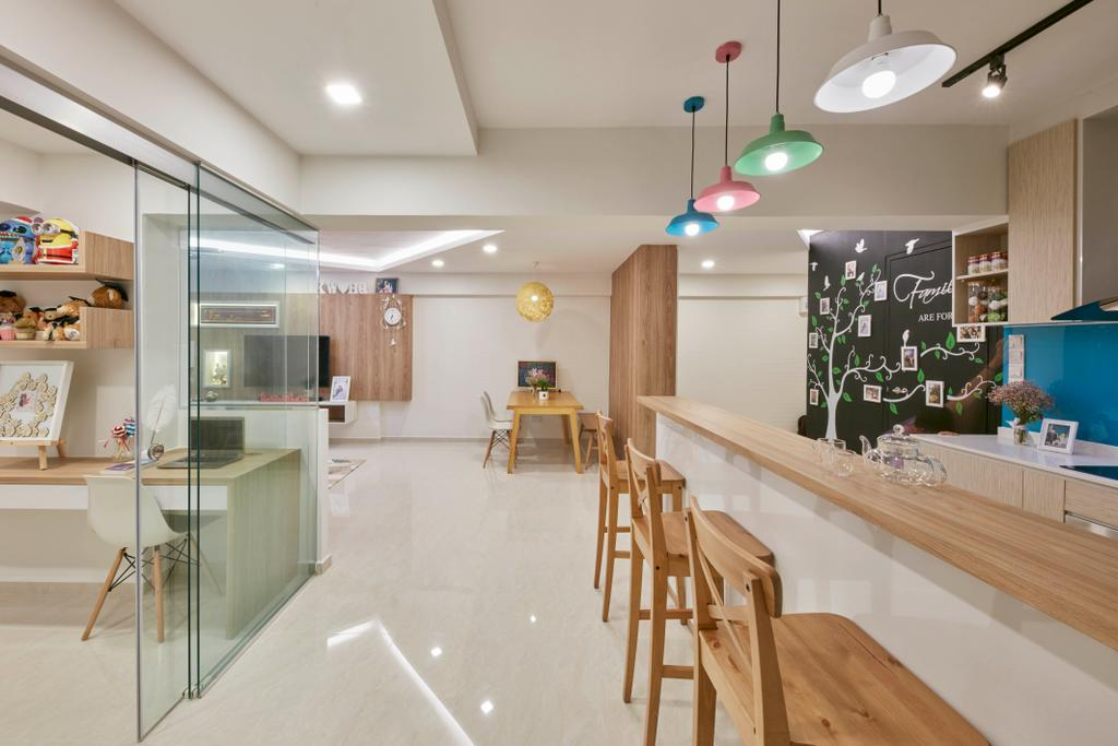 HDB, Dining Room, Bedok Reservoir View, Interior Designer, i-Chapter