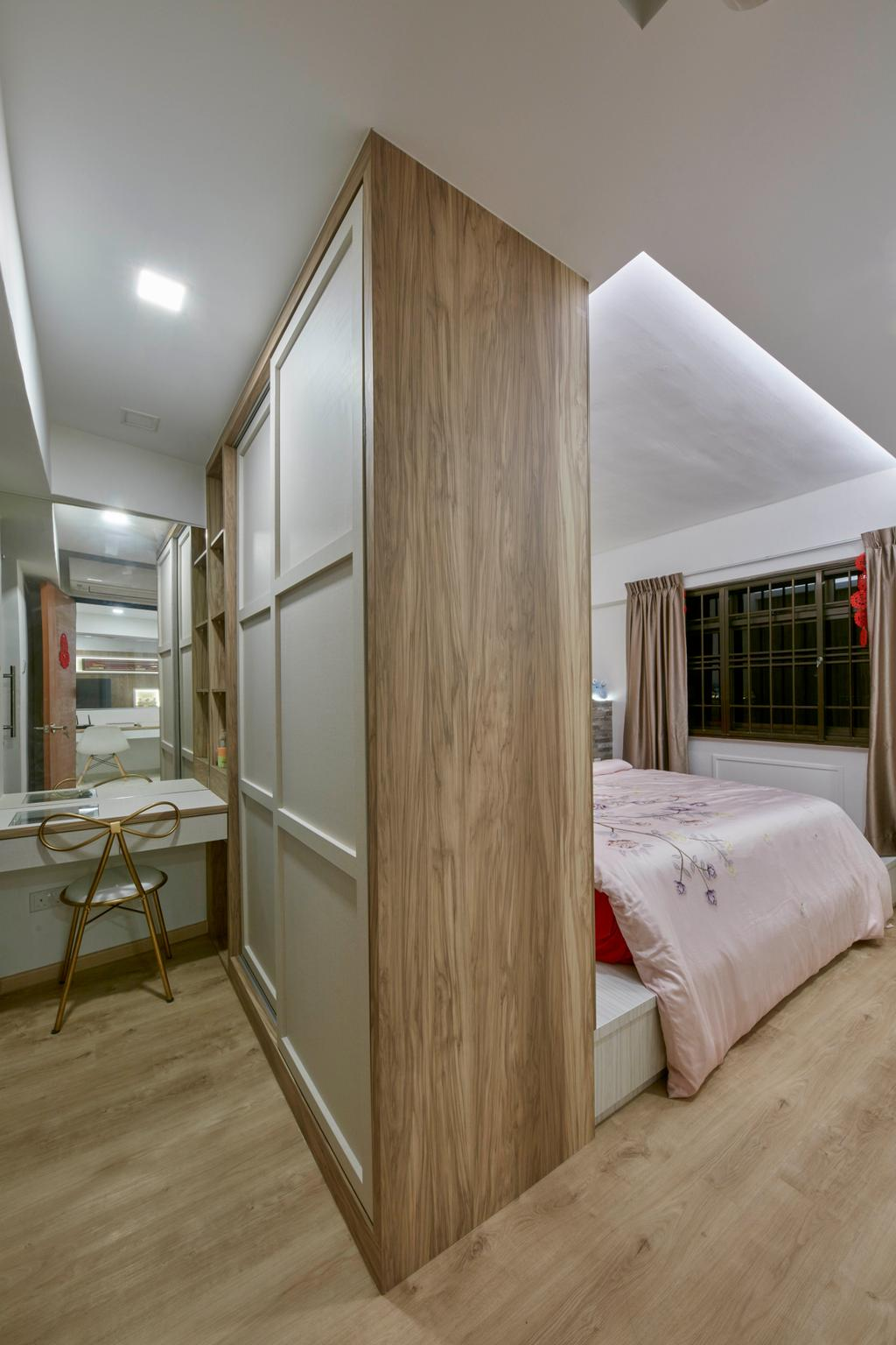 HDB, Bedroom, Bedok Reservoir View, Interior Designer, i-Chapter