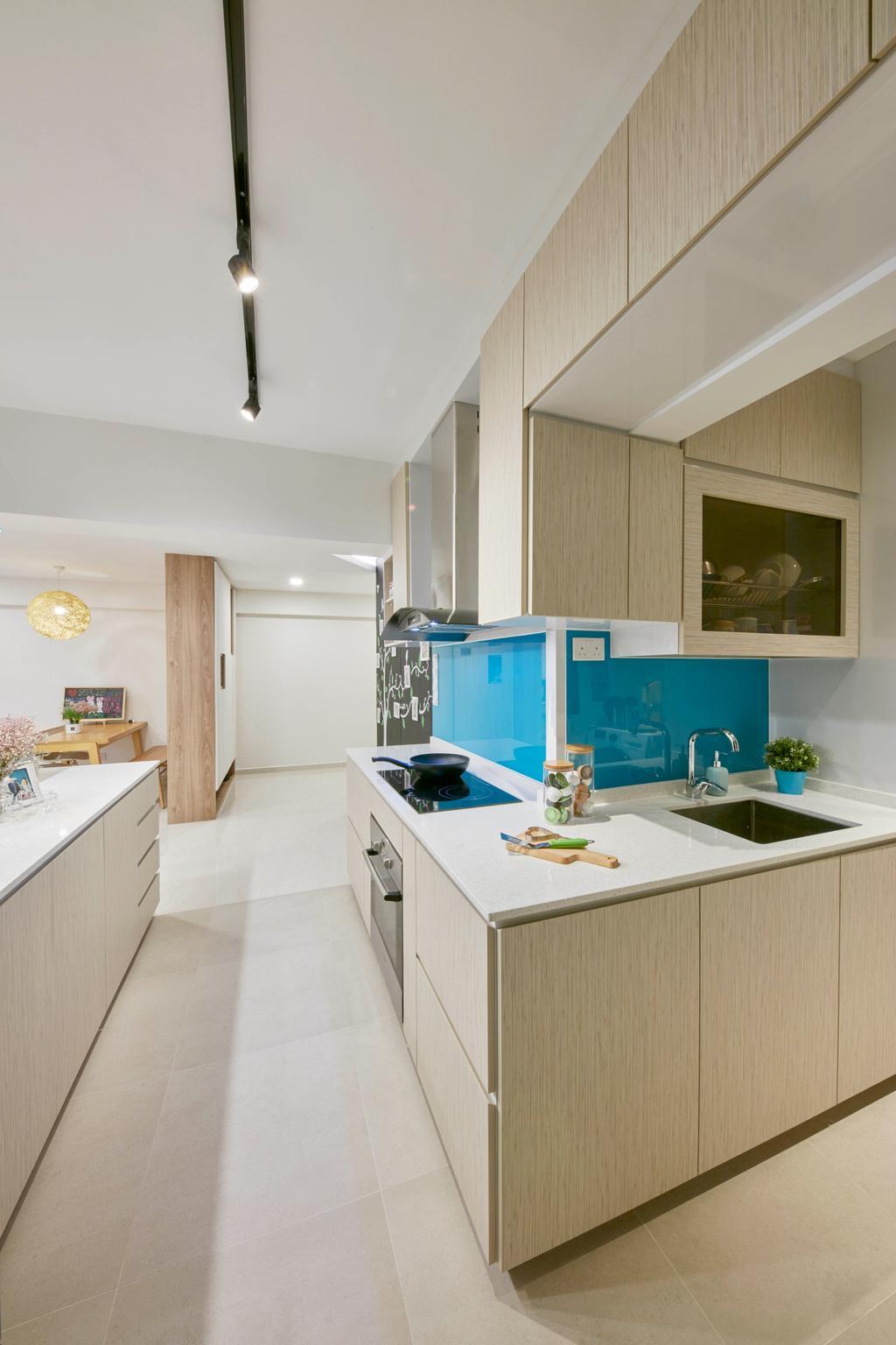 HDB, Kitchen, Bedok Reservoir View, Interior Designer, i-Chapter