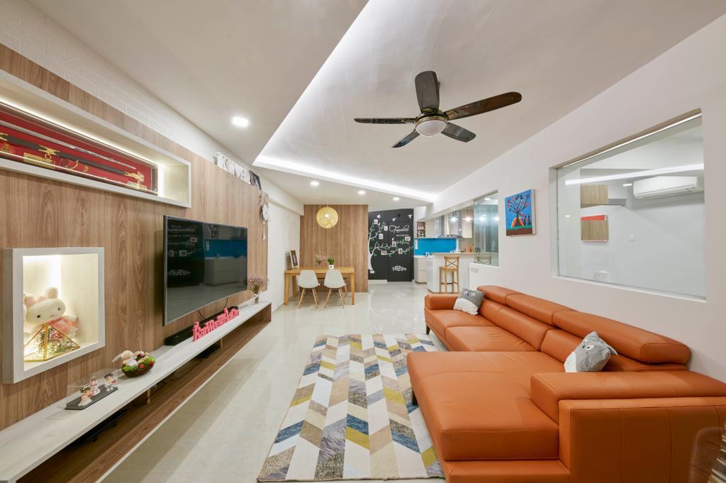 HDB, Living Room, Bedok Reservoir View, Interior Designer, i-Chapter