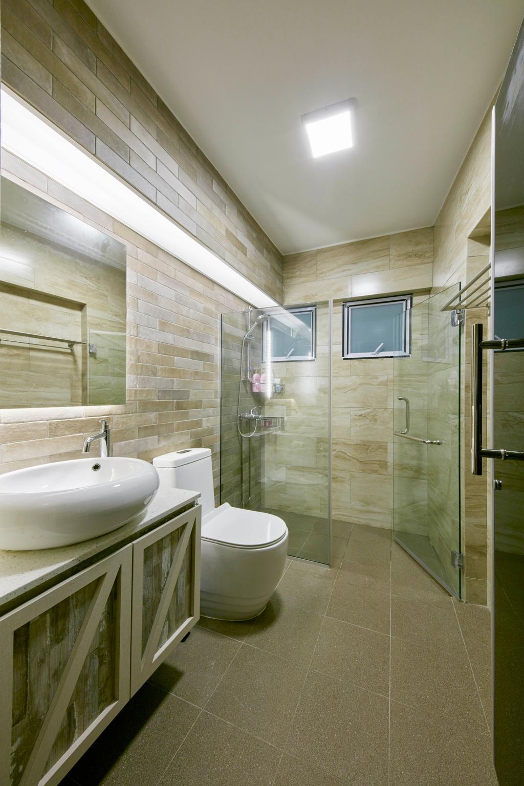 HDB, Bathroom, Bedok Reservoir View, Interior Designer, i-Chapter