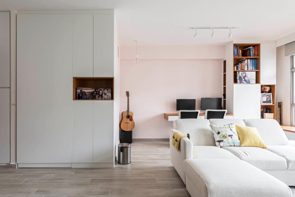 Contemporary, HDB, Living Room, Canberra Crescent, Interior Designer, Style Living Interior