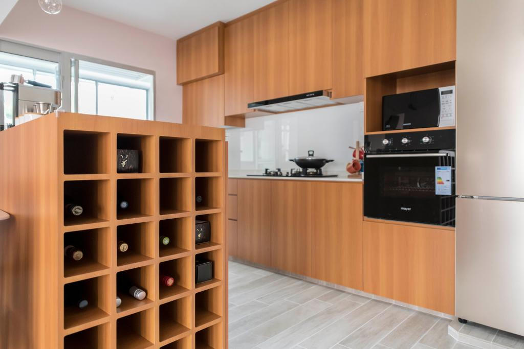 Contemporary, HDB, Kitchen, Canberra Crescent, Interior Designer, Style Living Interior