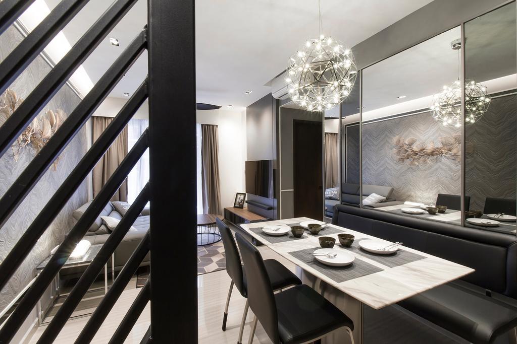 Modern, Condo, Dining Room, The Brownstone, Interior Designer, Stylemyspace