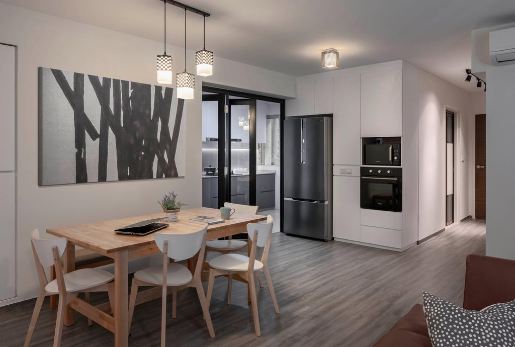 Contemporary, HDB, Dining Room, Bukit Batok Street 21, Interior Designer, Zenith Arc