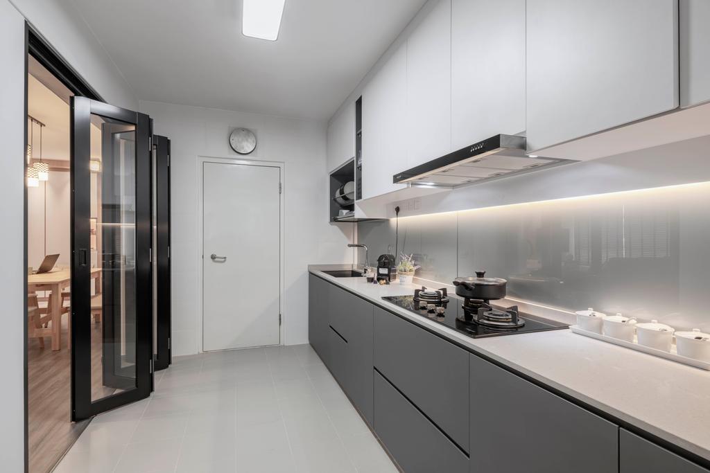 Contemporary, HDB, Kitchen, Bukit Batok Street 21, Interior Designer, Zenith Arc