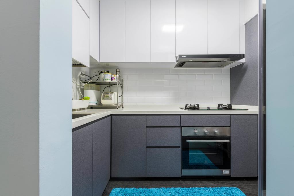 Contemporary, HDB, Kitchen, Tampines Central 7, Interior Designer, Omni Design