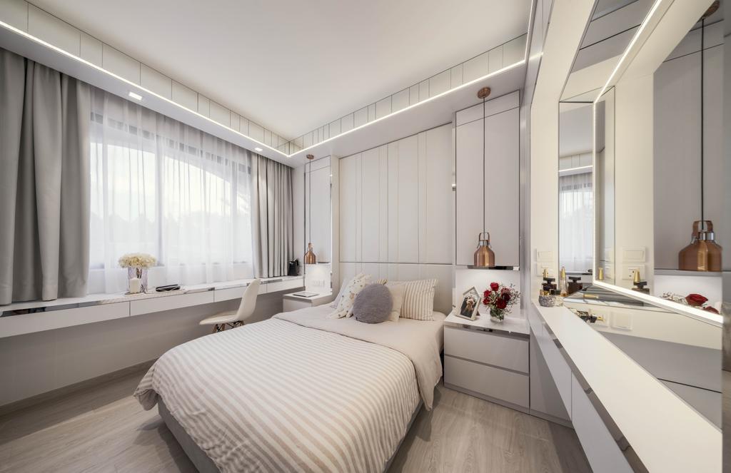 Contemporary, Condo, Bedroom, Lorong Kismis, Interior Designer, Weiken.com, Modern