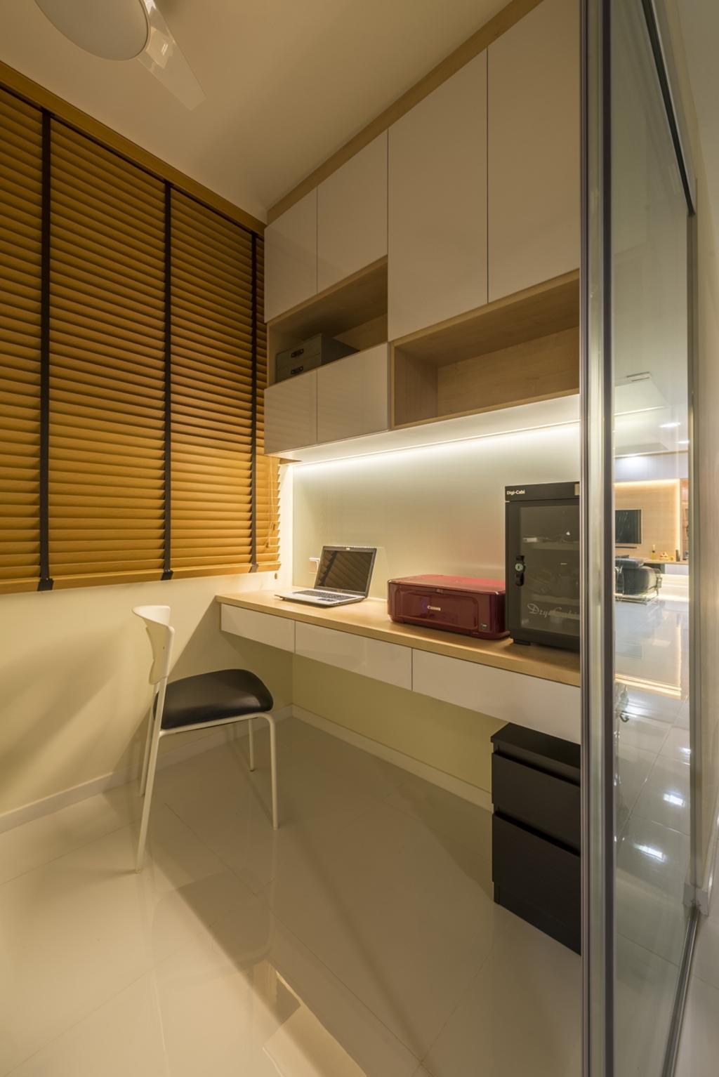 Contemporary, HDB, Study, Punggol Central, Interior Designer, NID Design Group
