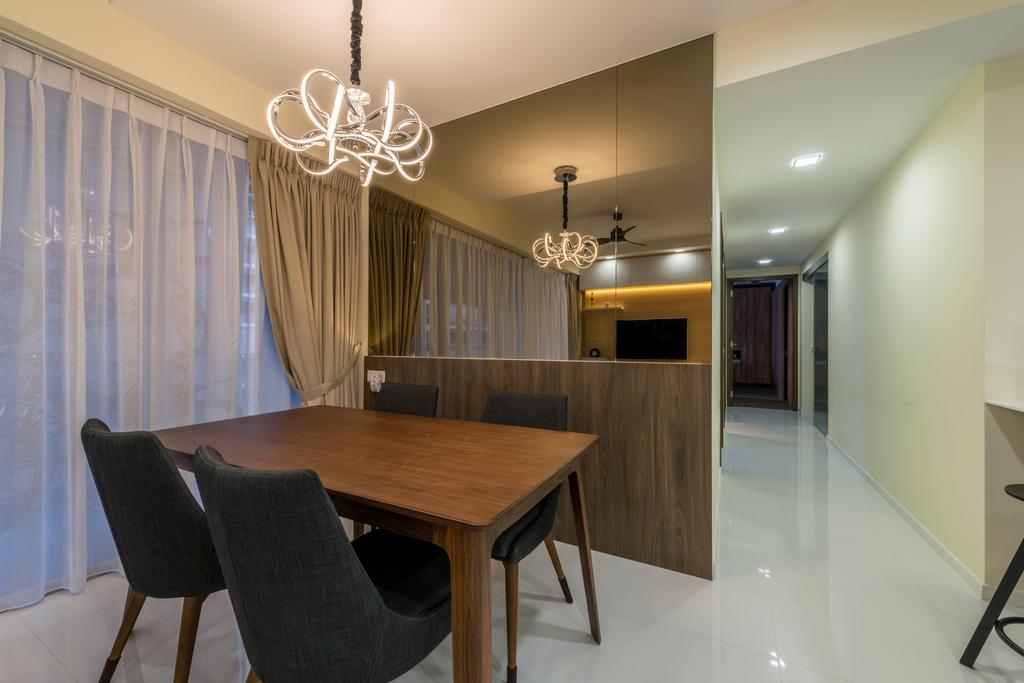 Contemporary, HDB, Dining Room, Punggol Central, Interior Designer, NID Design Group