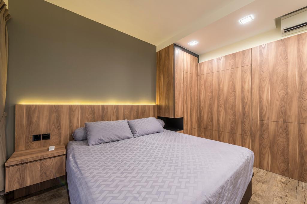 Contemporary, HDB, Bedroom, Punggol Central, Interior Designer, NID Design Group