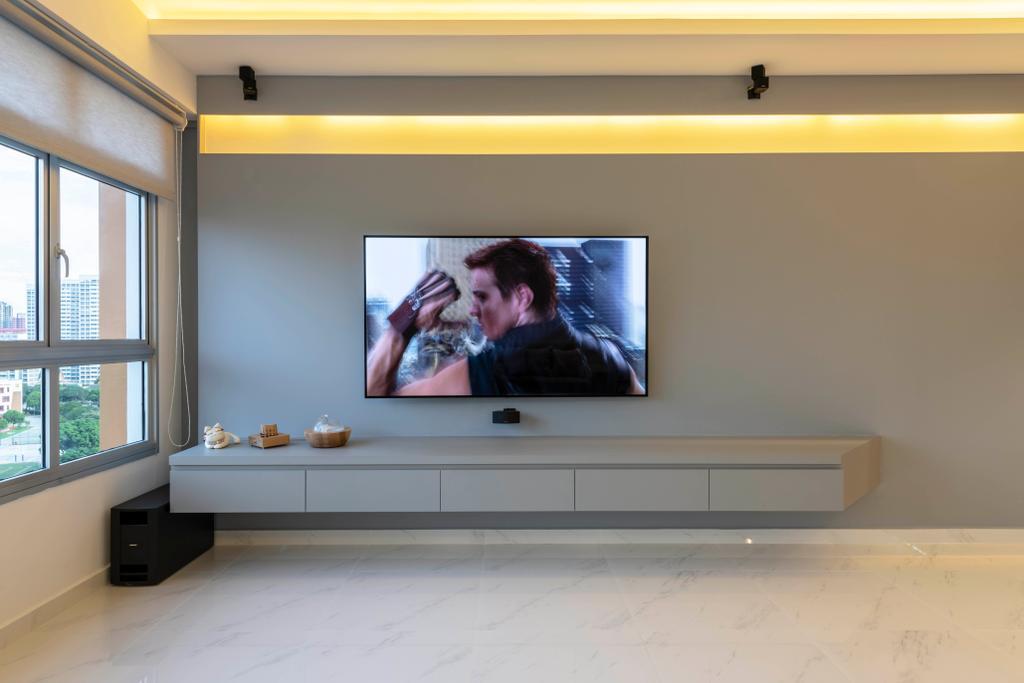 Contemporary, HDB, Living Room, Bukit Batok West Avenue 8, Interior Designer, Fifth Avenue Interior