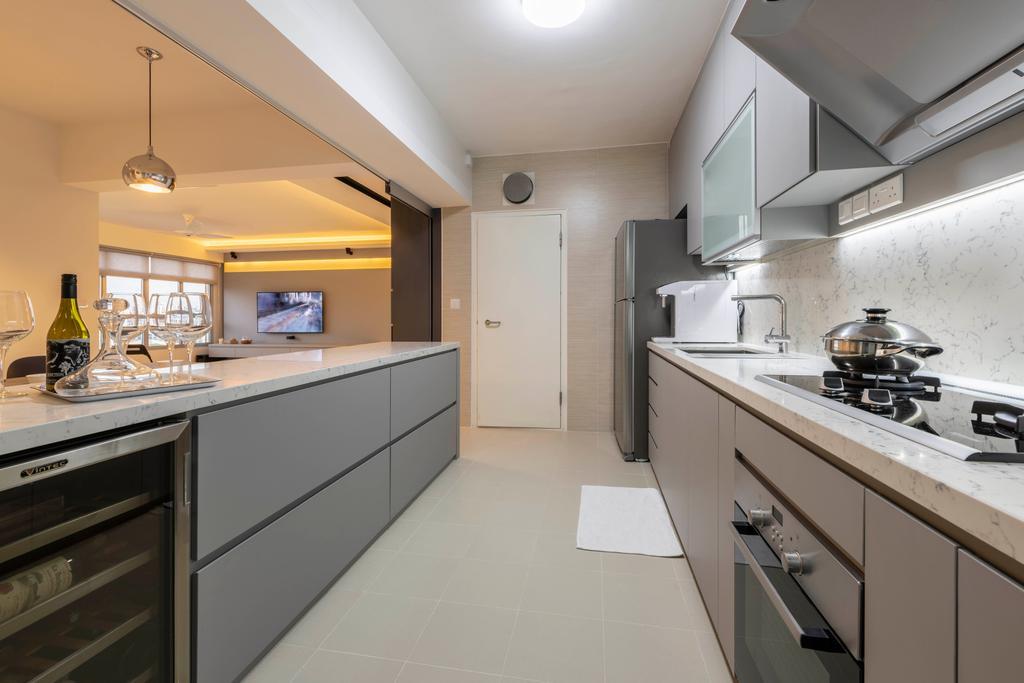 Contemporary, HDB, Kitchen, Bukit Batok West Avenue 8, Interior Designer, Fifth Avenue Interior