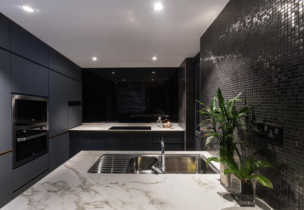 Contemporary, Condo, Kitchen, Aspen Heights, Interior Designer, Hall Interiors