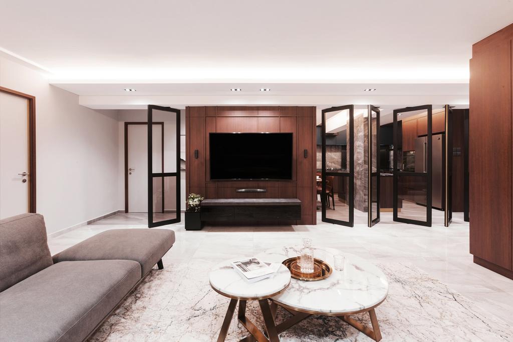 Contemporary, Condo, Living Room, Pasir Ris Street 21, Interior Designer, Hall Interiors