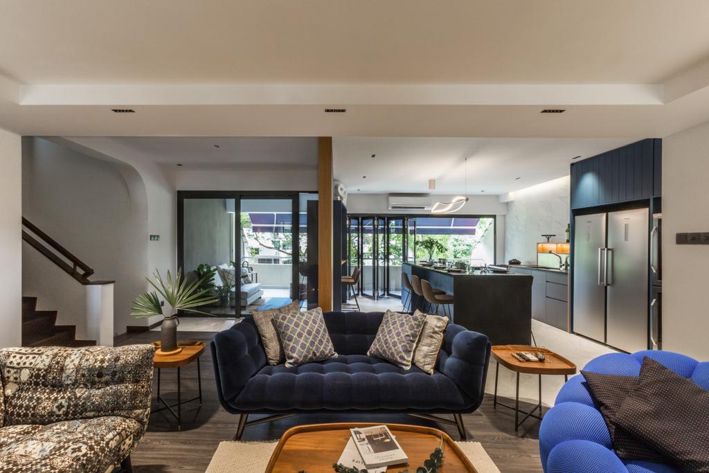 Contemporary, Condo, Living Room, The Arcadia, Interior Designer, Hall Interiors