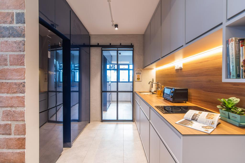 Eclectic, HDB, Kitchen, Toh Guan, Interior Designer, Hall Interiors