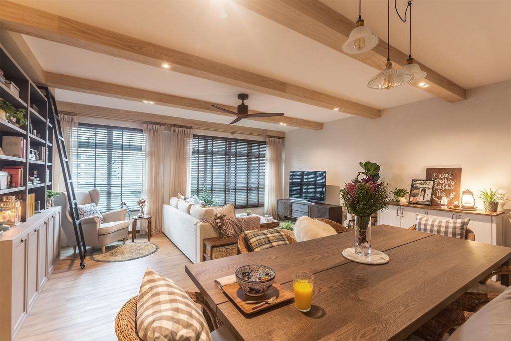 HDB, Living Room, SkyPeak @ Bukit Batok, Interior Designer, Hall Interiors