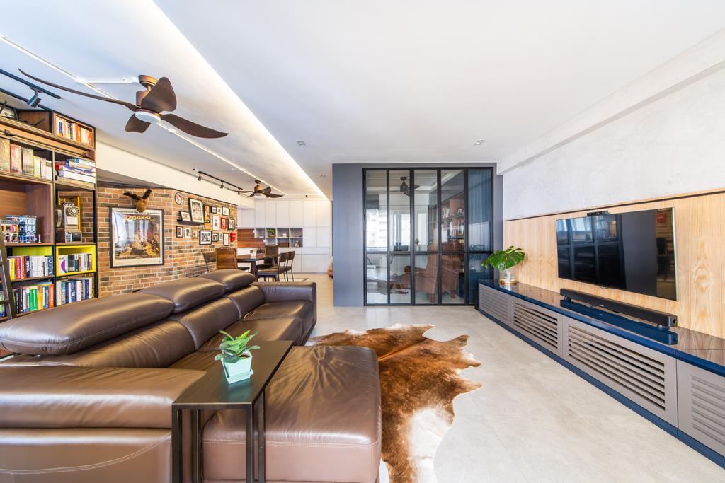 Eclectic, HDB, Living Room, Toh Guan, Interior Designer, Hall Interiors