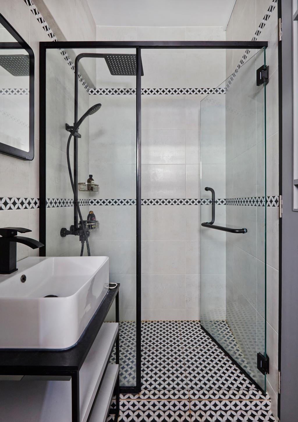 Eclectic, HDB, Bathroom, Serangoon, Interior Designer, Fuse Concept, Modern, Transitional