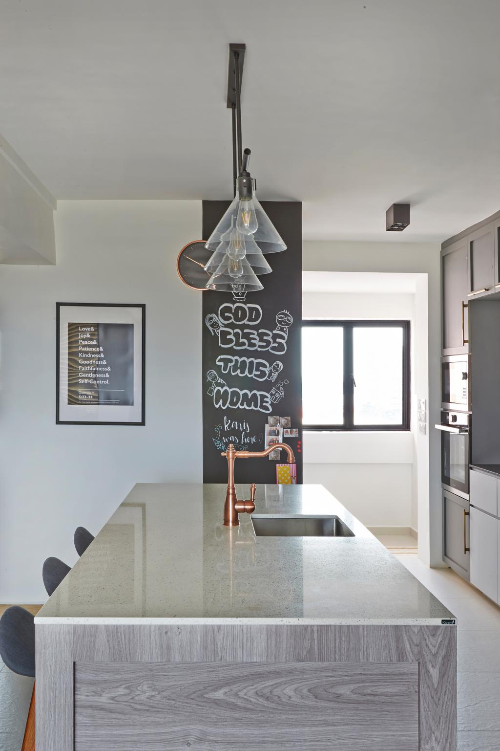 Eclectic, HDB, Dining Room, Serangoon, Interior Designer, Fuse Concept, Modern, Transitional