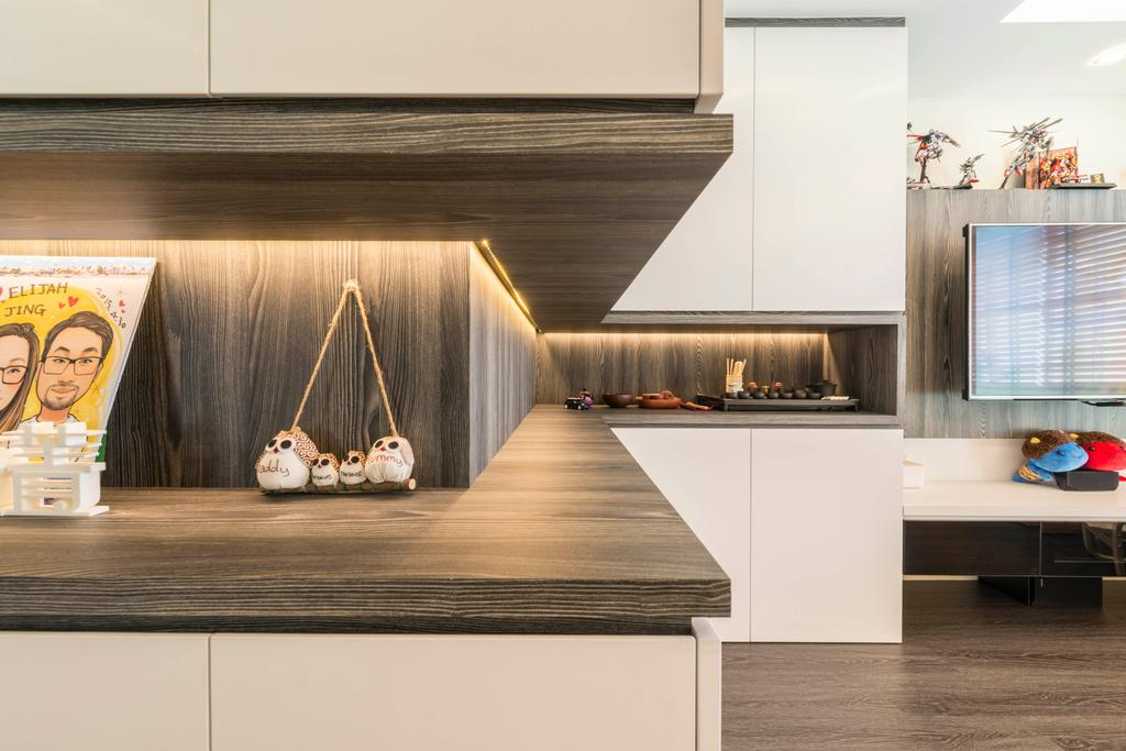 Contemporary, HDB, Living Room, Clementi Avenue 4, Interior Designer, Control Space Design Studio