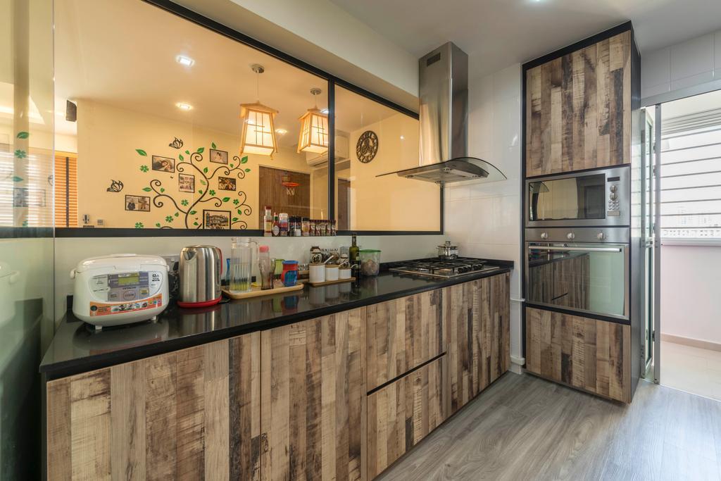 Contemporary, HDB, Kitchen, Clementi Avenue 4, Interior Designer, Control Space Design Studio