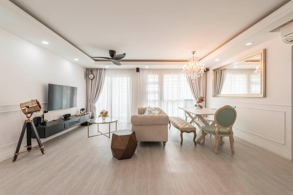 Contemporary, HDB, Living Room, Edgedale Plains, Interior Designer, Control Space Design Studio