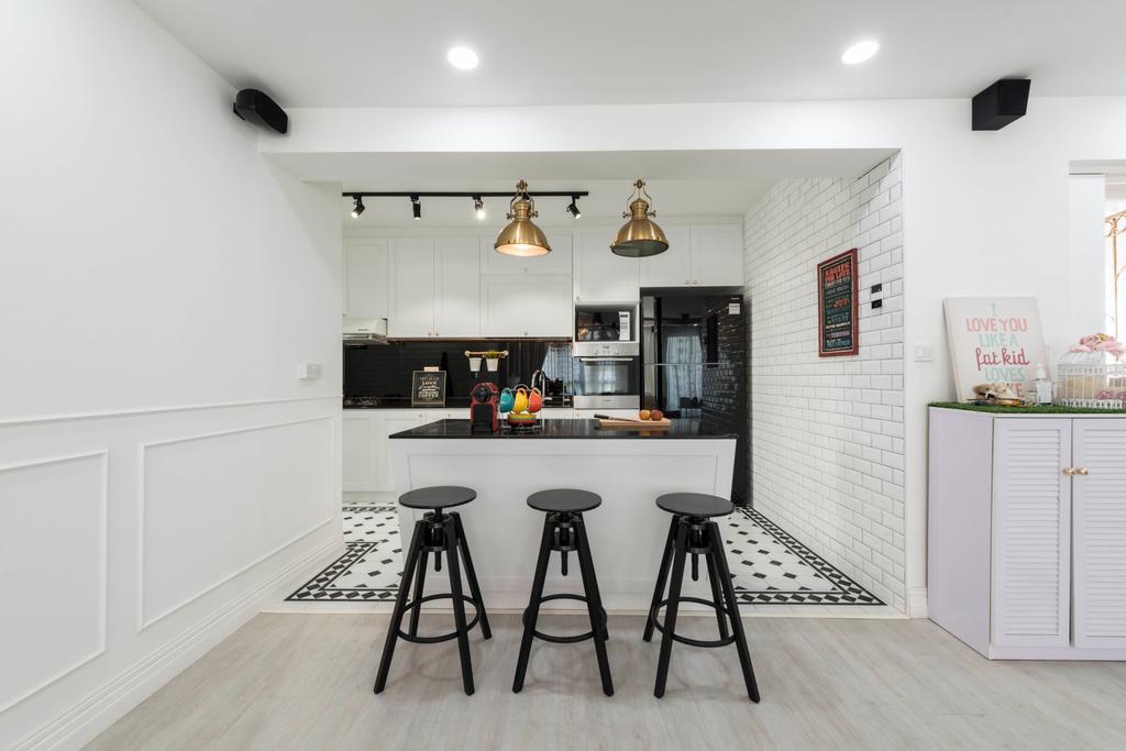 Contemporary, HDB, Kitchen, Edgedale Plains, Interior Designer, Control Space Design Studio